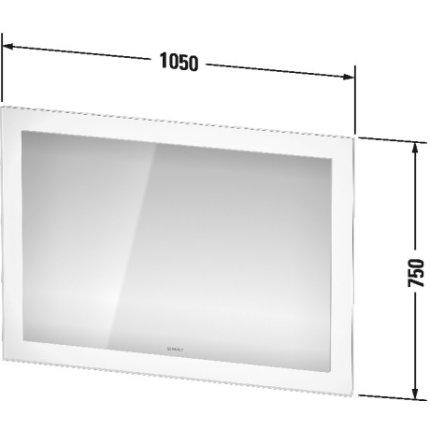 Oglinda Duravit White Tulip cu iluminare LED si senzor, 75x105cm