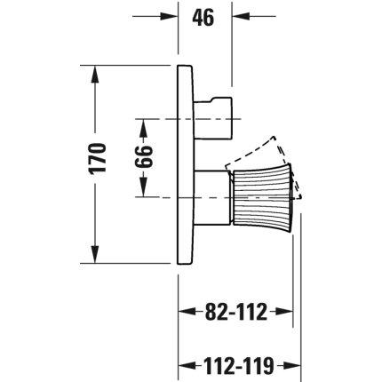 Baterie cada Duravit White Tulip cu 2 consumatori, montaj incastrat, necesita corp ingropat, crom