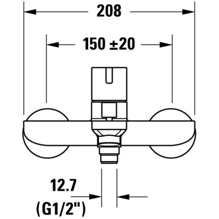 Baterie cada Duravit D-Neo, crom