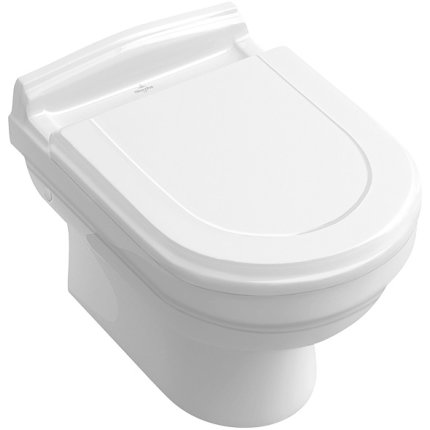 Vas WC suspendat Villeroy & Boch Hommage 60x37cm, CeramicPlus, Alb Alpin