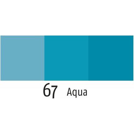 Husa perna Sander Fellini 50x50cm, 67 albastru aqua
