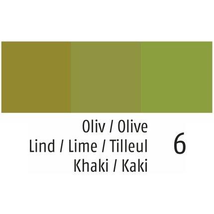 Husa perna Sander Basics Earl 50x50cm, 6 verde olive