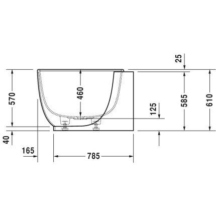 Cada baie asimetrica Duravit Luv 185x95cm, compozit, orientare stanga, cu panou integrat si picioare incluse