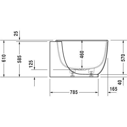 Cada baie asimetricaDuravit Luv 185x95cm, compozit, orientare dreapta, cu panou integrat si picioare incluse