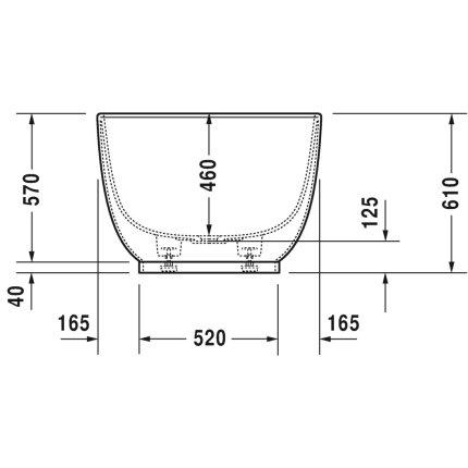 Cada free-standing Duravit Luv 180x85 cm, cu set scurgere inclus