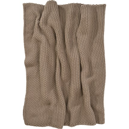 Pled Sander Knit 125x150cm, 27 granit