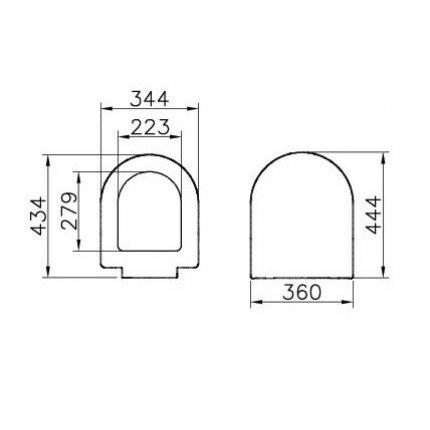 Set WC suspendat Vitra S50 54cm, cu functie de bideu si capac inchidere lenta