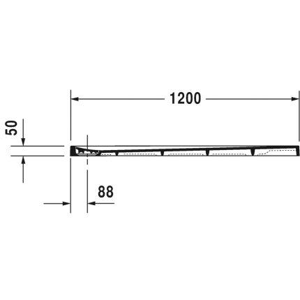 Cadita de dus dreptunghiulara Duravit Stonetto 80x120 cm, compozit gri concrete