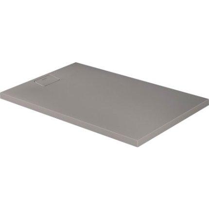 Cadita de dus dreptunghiulara Duravit Stonetto 90x140 cm, compozit gri concrete