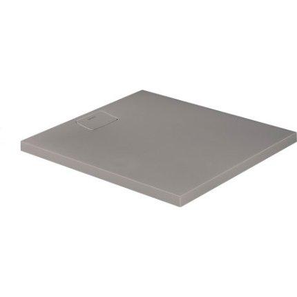 Cadita de dus dreptunghiulara Duravit Stonetto 90x100 cm, compozit gri concrete
