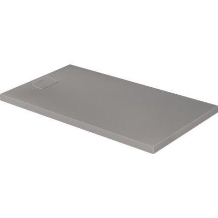 Cadita de dus dreptunghiulara Duravit Stonetto 80x140 cm, compozit gri concrete