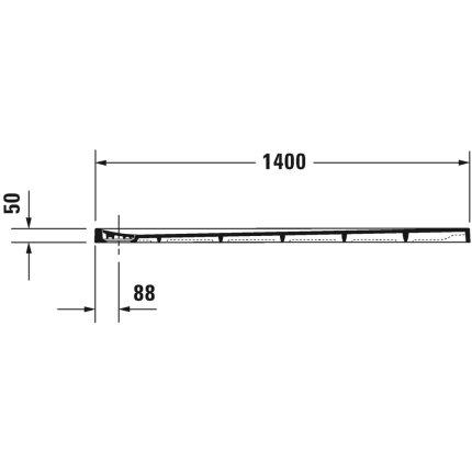 Cadita de dus dreptunghiulara Duravit Stonetto 80x140 cm, compozit alb