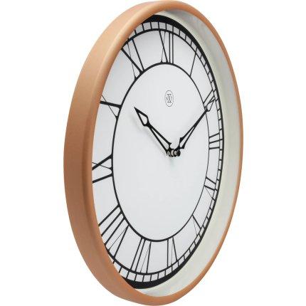 Ceas de perete NeXtime Kyle 30cm, alb-roz