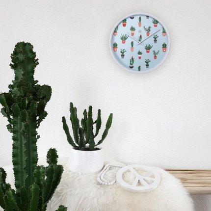 Ceas de perete NeXtime Cactus 30cm, verde