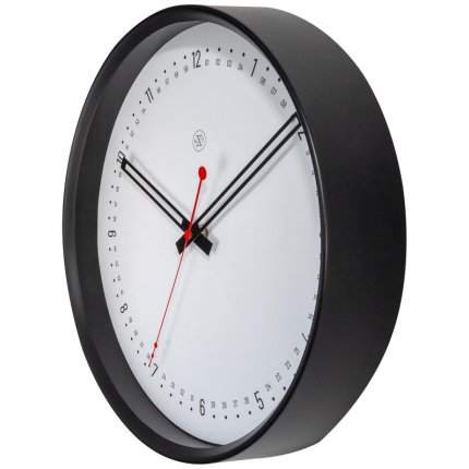 Ceas de perete NeXtime Sweden 30cm, negru-alb