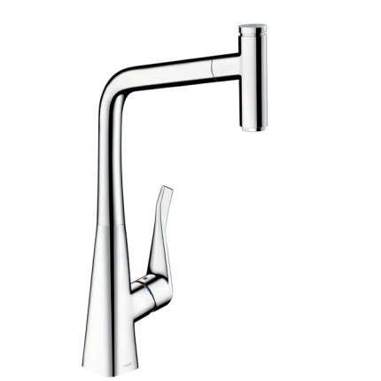 Baterie bucatarie Hansgrohe M7115-H320, ComfortZone 320, dus extractibil, crom