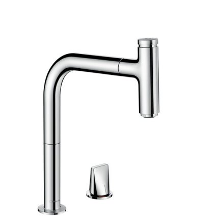 Baterie bucatarie Hansgrohe M7119-H200 din doua elemente, ComfortZone 200, dus extractibil, crom