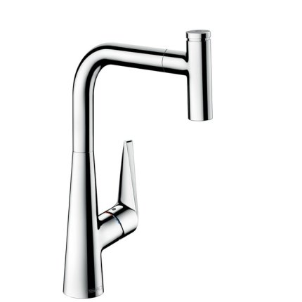 Baterie bucatarie Hansgrohe M5115-H300, ComfortZone 300, dus extractibil, crom