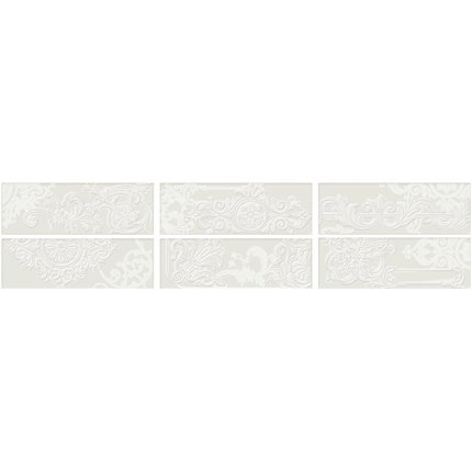 Faianta Iris Maiolica 10x30cm, 7mm, Latte Decor