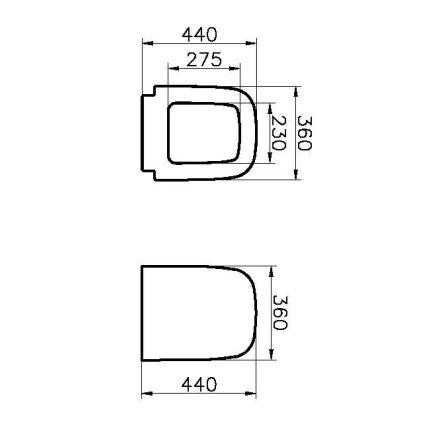 Capac WC Vitra S20 cu inchidere lenta