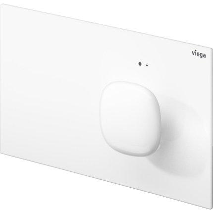 Clapeta actionare electronica Viega Visign for More 202, alb metalic