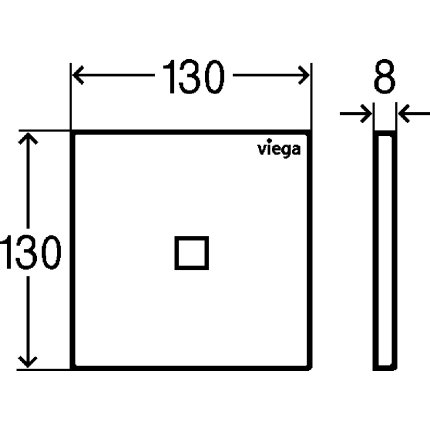 Clapeta actionare urinal cu infrarosu Viega Visign For More 200, inox periat