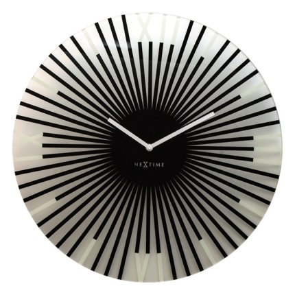 Ceas de perete NeXtime Sticks Black 43cm