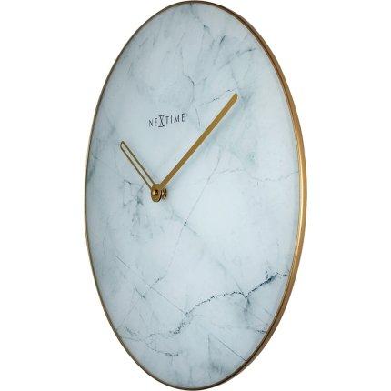 Ceas de perete NeXtime Marble 40cm, alb