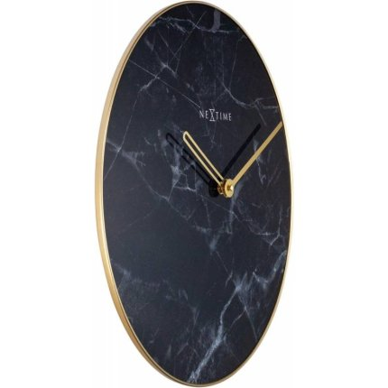 Ceas de perete NeXtime Marble 40cm, negru