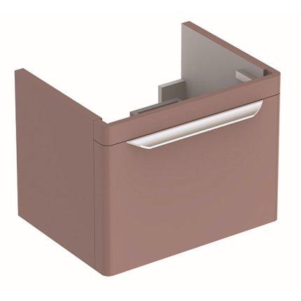 Dulap baza Geberit myDay 54cm cu un sertar, taupe lucios