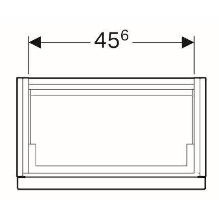 Dulap baza Geberit iCon 52cm cu un sertar, alb lucios