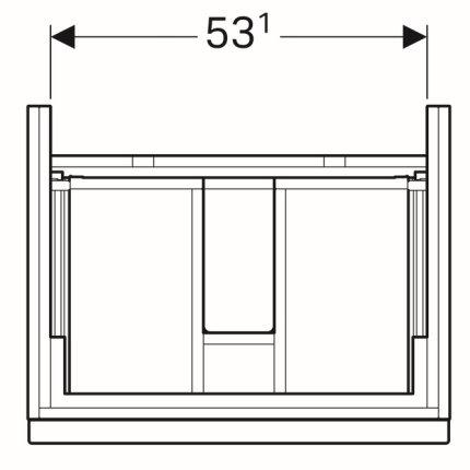 Dulap baza Geberit iCon 59.5cm cu doua sertare, negru lava mat