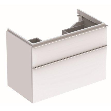 Dulap baza Geberit iCon 89cm cu doua sertare, alb mat