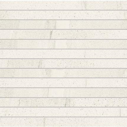 Mozaic Iris Pietra di Basalto 3x30, 30x30cm, Bianco