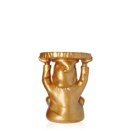 Masuta Kartell Attila design Philippe Starck, 40cm, h 44cm, auriu
