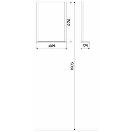 Oglinda Kolo Rekord 44.3x60.5x12.5cm cu iluminare si polita
