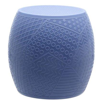 Taburet Kartell Roy design Alessandro Mendini, h43cm, d45cm, albastru