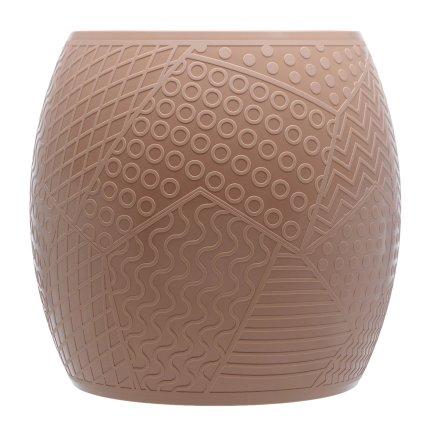 Taburet Kartell Roy design Alessandro Mendini, h43cm, d45cm, roz pudra