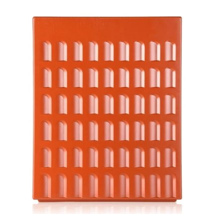 Taburet Kartell EUR design Fabio Novembre, 45x36x36cm, caramiziu