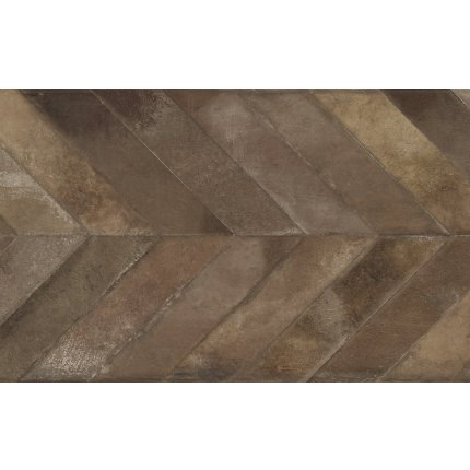 Gresie portelanata rectificata Iris Whole Chevron 120x60cm, 9mm, Tobacco Natural