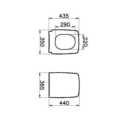Capac WC Vitra Metropole cu inchidere lenta