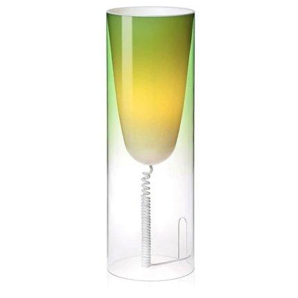 Veioza Kartell Toobe design Ferruccio Laviani, h55cm, d20cm, verde
