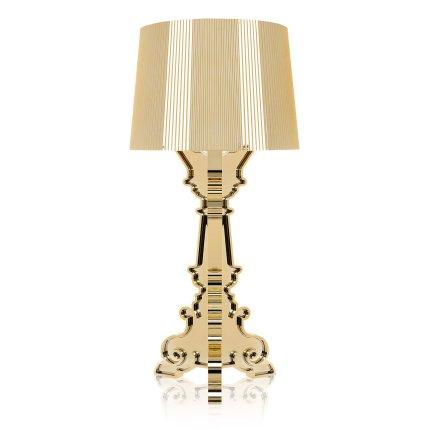 Veioza Kartell Bourgie design Ferruccio Laviani, E14 max 3x28W, d37cm, auriu metalizat
