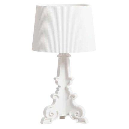 Veioza Kartell Bourgie design Ferruccio Laviani, E14 max 3x28W, d37cm, alb mat