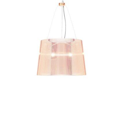 Suspensie Kartell Ge' design Ferruccio Laviani, E27 max 70W, h37cm, roz transparent