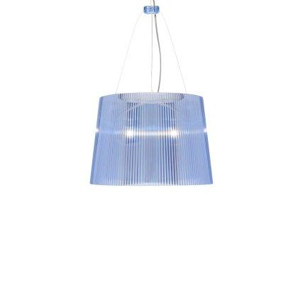 Suspensie Kartell Ge' design Ferruccio Laviani, E27 max 70W, h37cm, bleu transparent