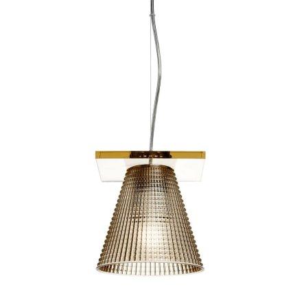 Suspensie Kartell Light Air design Eugeni Quitllet, d14cm, ambra
