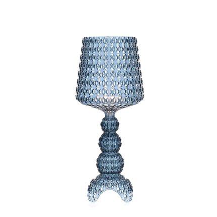 Veioza Kartell Mini Kabuki design Ferruccio Laviani, LED 8.4W, h70cm, bleu