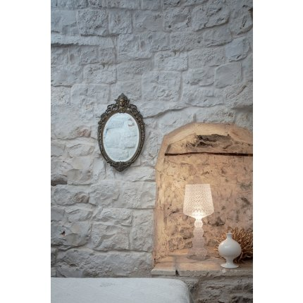 Veioza Kartell Mini Kabuki design Ferruccio Laviani, LED 8.4W, h70cm, transparent