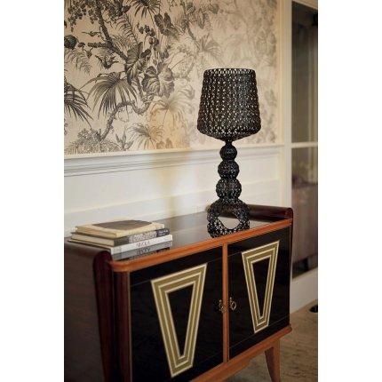 Veioza Kartell Mini Kabuki design Ferruccio Laviani, LED 8.4W, h70cm,  negru opac